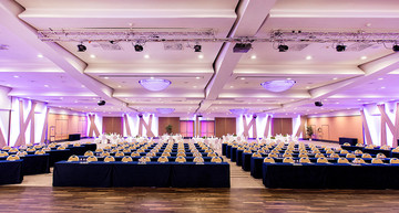 Large conference room for business events in Wyndham Grand Hotel Salzburg